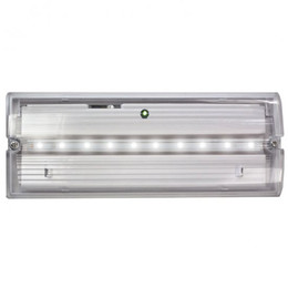 Meteor Low Profile LED IP65 Emergency Bulkhead With Optional Self-Test