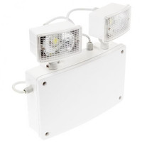 Emergency Lighting, LED Emergency Lighting, LED Emergency Spotlights - Grove IP65 Weatherproof LED Twinspot Floodlight
