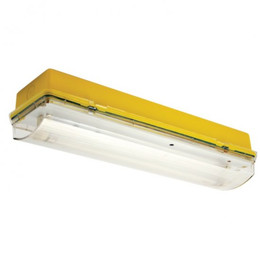 Meteor 8W Maintained 110V Yellow Base Fluorescent Bulkhead