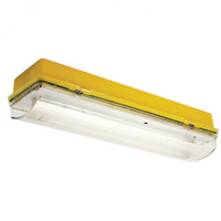 Emergency Lighting, Emergency Bulkhead Lights - Meteor 8W Maintained 110V Yellow Base Fluorescent Bulkhead