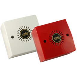 Miditone Electronic Fire Alarm Sounder in Red or White