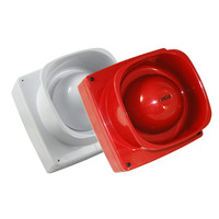 Fire Alarms, Sounders, Flashers & Bells, Fire Alarm Sounders, Conventional Sounders - Maxitone Fire Alarm Electronic Sounder Red or White