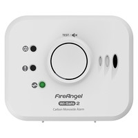 Fire Alarms, Domestic Smoke, Heat & CO Alarms, FireAngel Mains Powered Alarms With 10 Year Lithium Batteries & Optional Wireless Link - FireAngel Wi-Safe 2 10 Year CO Alarm