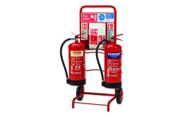 Extinguisher Trolley With Backboard Discount Fire Supplies