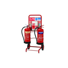 Extinguisher Trolley with Backboard