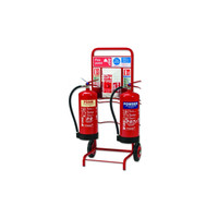 Fire Extinguishers & Blankets, Fire Extinguishers Stands & Cabinets - Extinguisher Trolley with Backboard