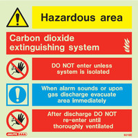 Fire Signs, Photoluminescent Extinguishing System Signs - Carbon Dioxide Photoluminescent Extinguishing System Sign
