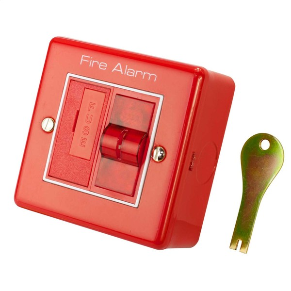 m2 3a fused spur fire alarm isolator keyswitch
