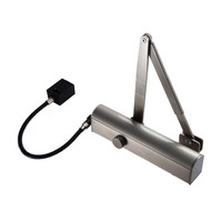 Fire Alarms, Fire Alarm Accessories, Fire Door Closers, Hardwired Fire Door Closers - Exidor 4870 Hold Open or Swing Free E-Mag Overhead Door Closer