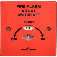 Fire Alarms, Fire Alarm Accessories, Switches & Push Buttons - Economy Fire Alarm Mains Safety Isolator Switch (Surface or Flush)