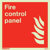 Fire Signs, Photoluminescent Fire Equipment Signs - Jalite Photoluminescent 'Fire Control Panel' Sign