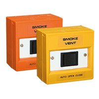 Fire Alarms, Smoke Vent Control - Smoke Vent Rocker Switch in Orange or Yellow