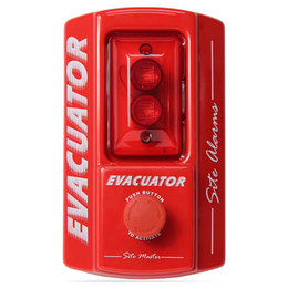 Evacuator Site Master Alarm With Break Glass or Push Button Activation