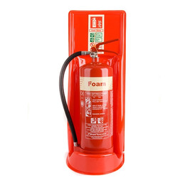 Single Universal Extinguisher Stand in Red or Grey