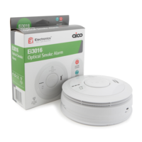 Fire Alarms, Domestic Smoke, Heat & CO Alarms, Aico 3000 Series, Mains Powered, 10 Year Lithium Batteries with Optional Wireless Interlink - Aico Ei3016 Optical Smoke Alarm
