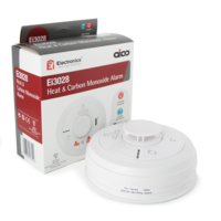 Fire Alarms, Domestic Smoke, Heat & CO Alarms, Aico 3000 Series, Mains Powered, 10 Year Lithium Batteries with Optional Wireless Interlink - Aico Ei3028 Multi-Sensor Heat & CO Alarm