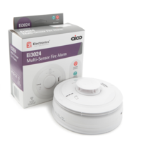 Fire Alarms, Domestic Smoke, Heat & CO Alarms, Aico 3000 Series, Mains Powered, 10 Year Lithium Batteries with Optional Wireless Interlink - Aico Ei3024 Multi-Sensor Fire Alarm
