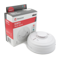 Fire Alarms, Domestic Smoke, Heat & CO Alarms, Aico 3000 Series, Mains Powered, 10 Year Lithium Batteries with Optional Wireless Interlink - Aico Ei3014 Heat Alarm