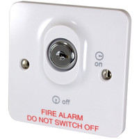 Fire Alarms, Fire Alarm Accessories, Switches & Push Buttons - C-Tec BF319 Fire Alarm Control Panel Mains Keyswitch