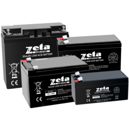 Zeta 12V Sealed Lead Acid Fire Alarm Battery