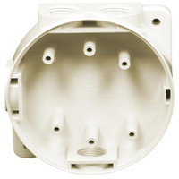 Fire Alarms, Fire Alarm Detectors, Fire Alarm Detector Bases, Hochiki CDX Marine Detector Bases - MBB-2 Hochiki Mounting Back Box with Glands (Ivory or White)