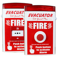 Fire Alarms, Standalone Fire Alarms, Self Contained Alarms - Evacuator Site Guard Plus Alarm With Push Button or Break Glass Activation