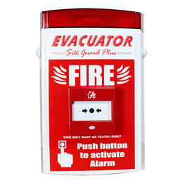 Evacuator Site Guard Plus Alarm With Push Button or Break Glass Activation