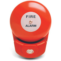 Fire Alarms, Sounders, Flashers & Bells, Fire Alarm Bells - StroBell Combined Fire Alarm Bell With White LED Beacon