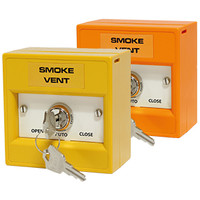 Fire Alarms, Smoke Vent Control - Smoke Vent Firemans Switch in Orange or Yellow