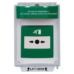 STI Universal Stopper Call Point Dome Cover With Optional Integral Sounder