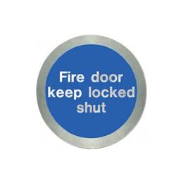 Stainless Steel Fire Door Keep Locked Shut Disc