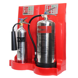 Modulex Flat Pack Fire Extinguisher Stand in Red or Grey