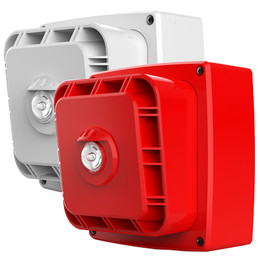 Wi-Fyre Wireless Sounder/Flasher in Red or White