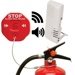 Wireless Extinguisher Theft Alarm with 4 or 8 Channel Voice Receiver