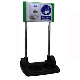 SafetyHub Hand Sanitiser Station With Optional Lockable Cabinet