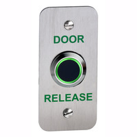 Security Equipment, Door Access Control - NT200-NF Narrow Style No Touch Access Control Exit Button