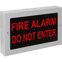 Fire Signs, Illuminated Signs - Kentec Warning Sign In Optional Weatherproof Enclosure