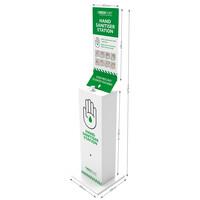 First Aid & Safety Equipment, First Aid Accessories - Medichief Floor Standing Hand Sanitiser Station