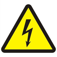 Fire Signs, Safety Signs - Electrical Risk Symbol Sign