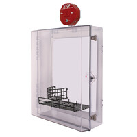 First Aid & Safety Equipment, Automatic External Defibrillators (AED) Cabinets - Extra Large AED Protective Cabinet with Alarm, Backplate, Wire Shelf & Thumb Lock