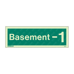 Basement -1 Photoluminescent  Floor Identification Sign