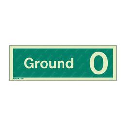 Ground 0 Photoluminescent Floor Identification Sign