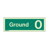 Fire Signs, Stairway & Floor Identification Signs - Ground 0 Photoluminescent Floor Identification Sign