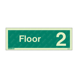 Floor 1-15 Photoluminescent Floor Identification Sign