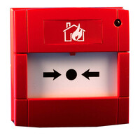 Fire Alarms, Wireless Fire Alarms, Legacy Millennium & Zerio Wireless Fire Alarm System, Millennium Call Points & Transmitter Units - Electro Detectors Millennium Radio Indoor or Outdoor Manual Call Point