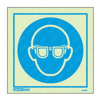 Fire Signs, Personal Protection Equipment Signs - Wear Eye Protection Symbol Only Photoluminescent PPE Sign