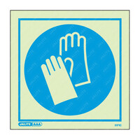 Fire Signs, Personal Protection Equipment Signs - Wear Hand Protection Symbol Only Photoluminescent PPE Sign