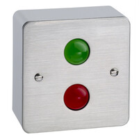 Security Equipment, Door Access Control, Standalone Door Access, Exit Switches & Call Points - TLM200 Traffic Light Indicator For Visual Door Locked or Unlocked Status