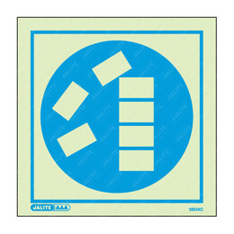 Stack Goods Correctly Symbol Only Photoluminescent PPE Sign