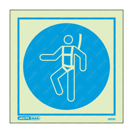 Wear Safety Harness Symbol Only Photoluminescent PPE Sign